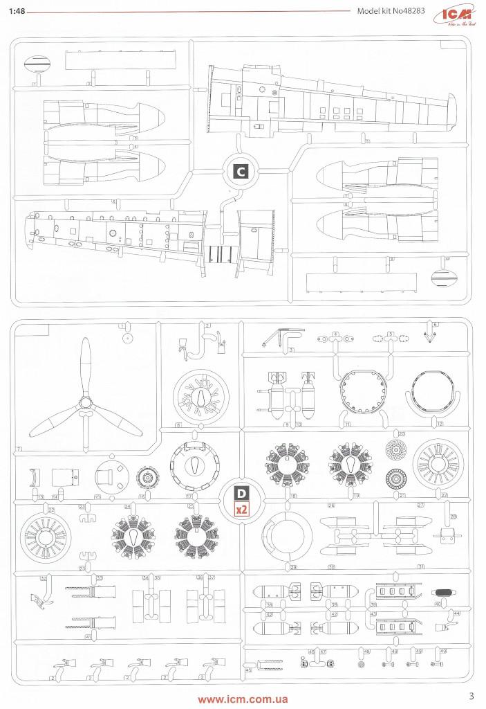 Anleitung03-1 Douglas A-26С-15 Invader ICM 1:48 (#48283)