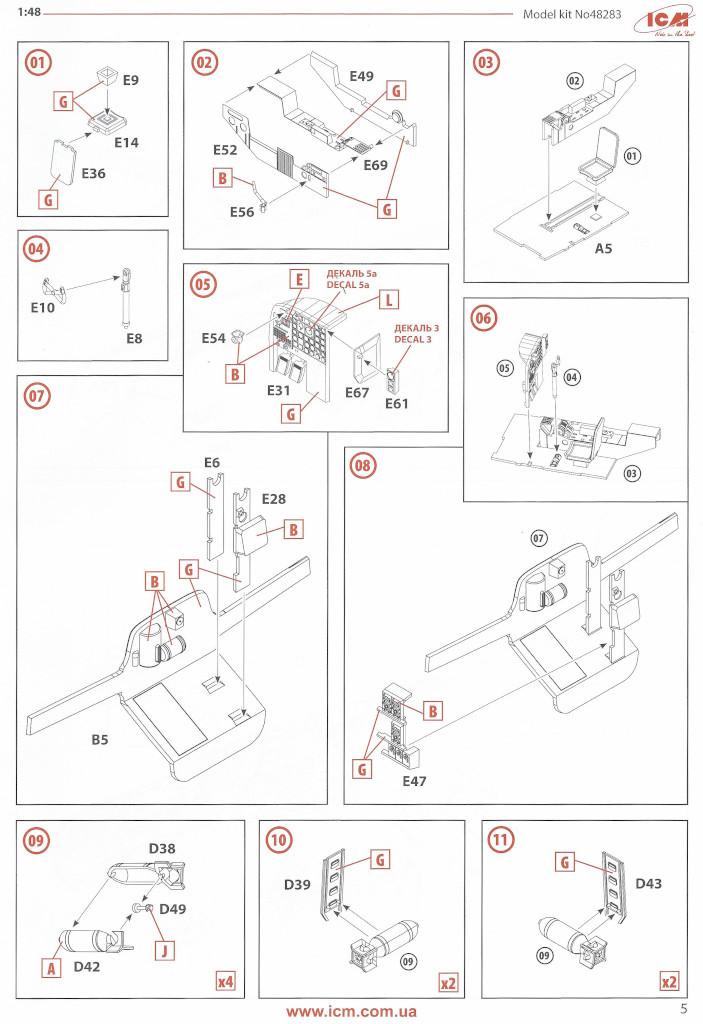 Anleitung05-1 Douglas A-26С-15 Invader ICM 1:48 (#48283)