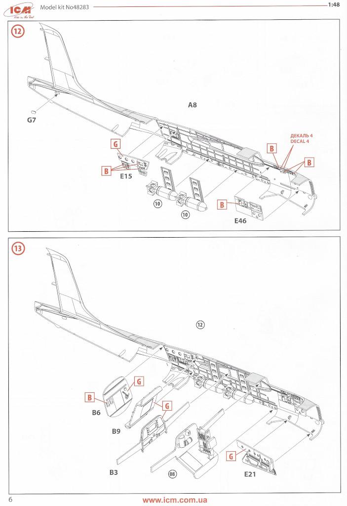 Anleitung06-1 Douglas A-26С-15 Invader ICM 1:48 (#48283)