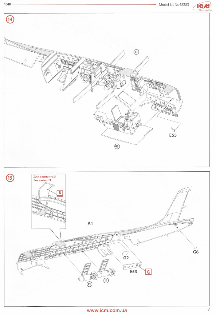 Anleitung07-1 Douglas A-26С-15 Invader ICM 1:48 (#48283)