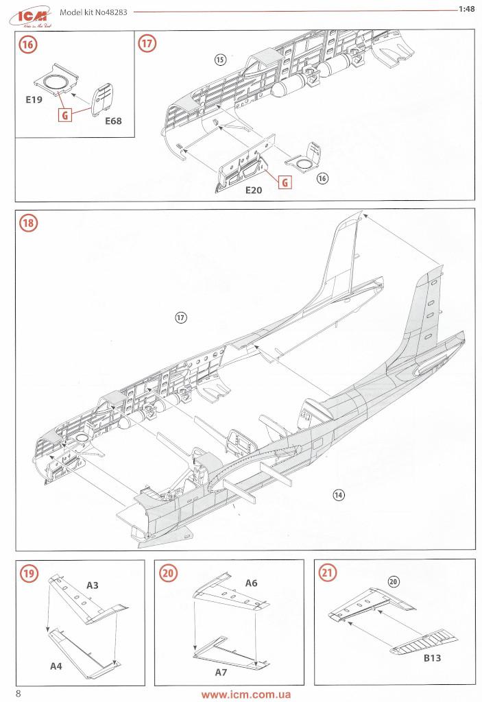 Anleitung08-1 Douglas A-26С-15 Invader ICM 1:48 (#48283)