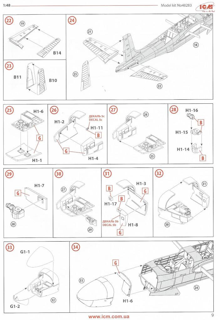 Anleitung09-1 Douglas A-26С-15 Invader ICM 1:48 (#48283)