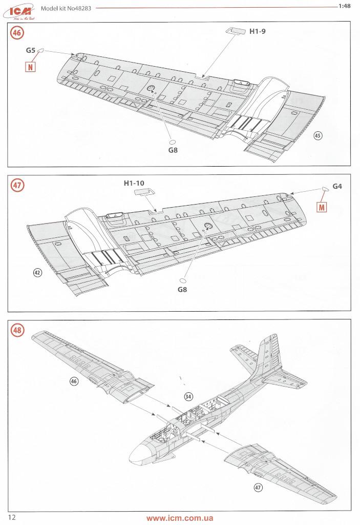 Anleitung12 Douglas A-26С-15 Invader ICM 1:48 (#48283)