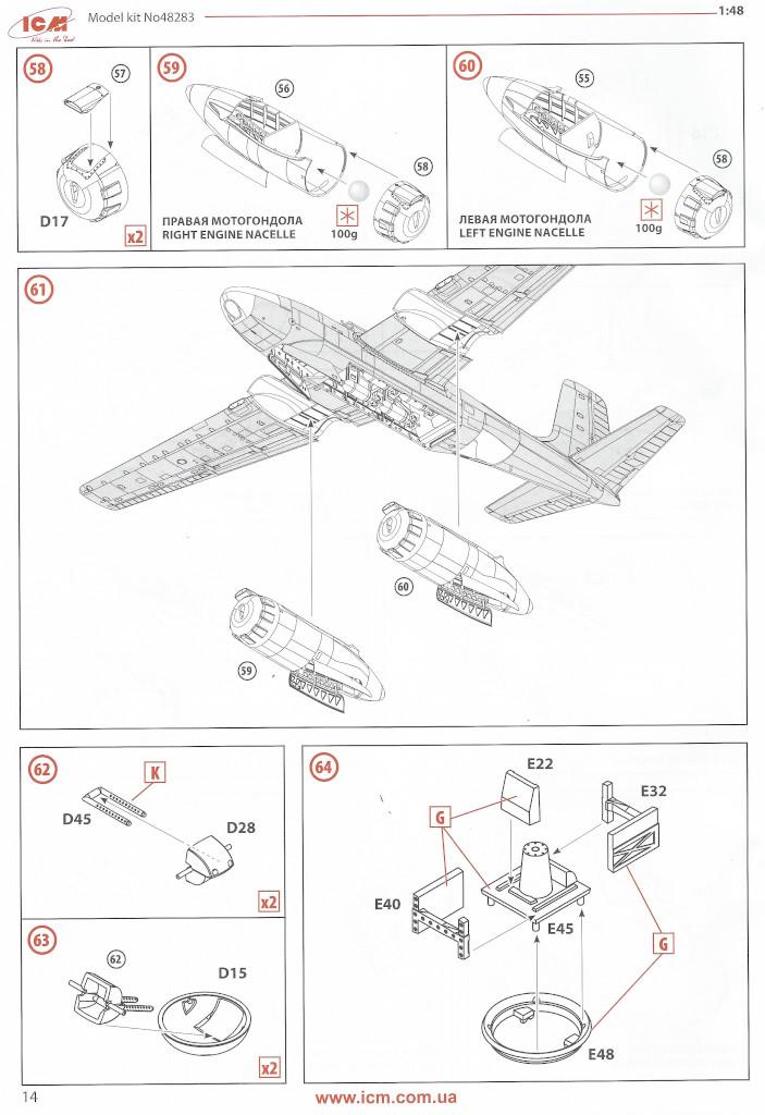 Anleitung14 Douglas A-26С-15 Invader ICM 1:48 (#48283)