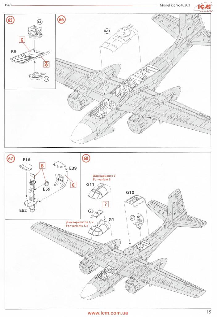 Anleitung15 Douglas A-26С-15 Invader ICM 1:48 (#48283)