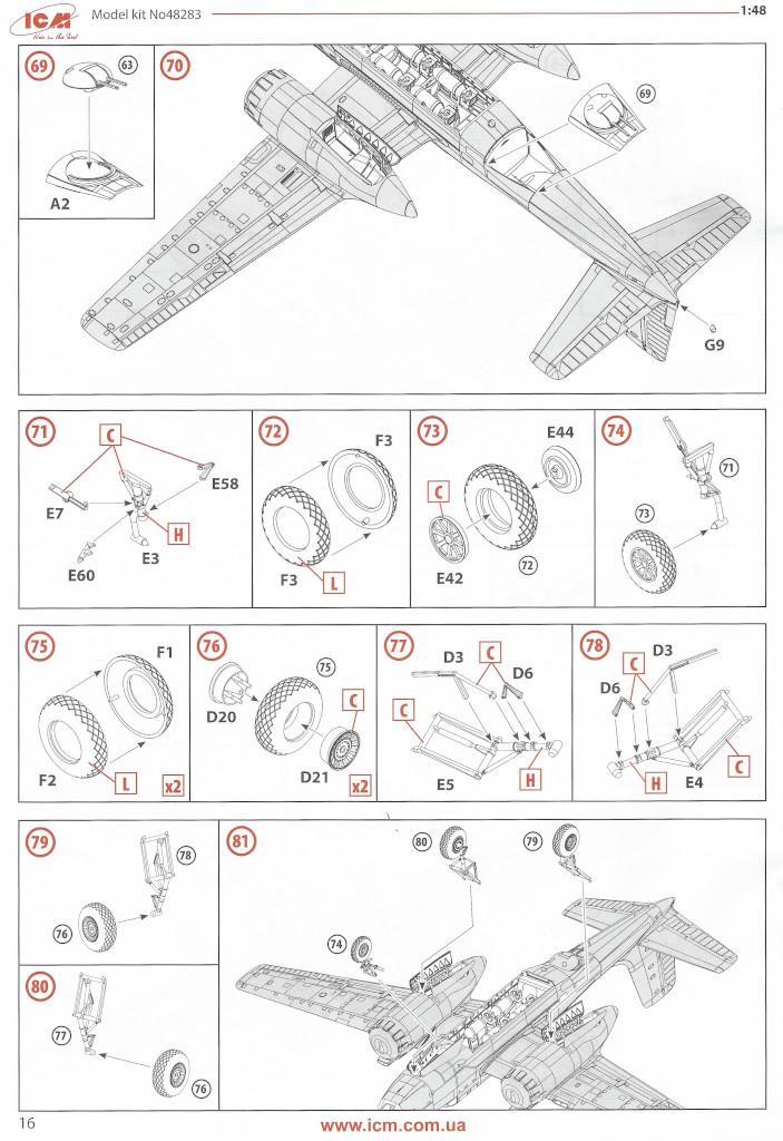 Anleitung16 Douglas A-26С-15 Invader ICM 1:48 (#48283)