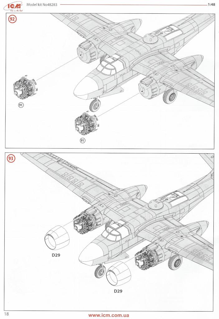 Anleitung18 Douglas A-26С-15 Invader ICM 1:48 (#48283)