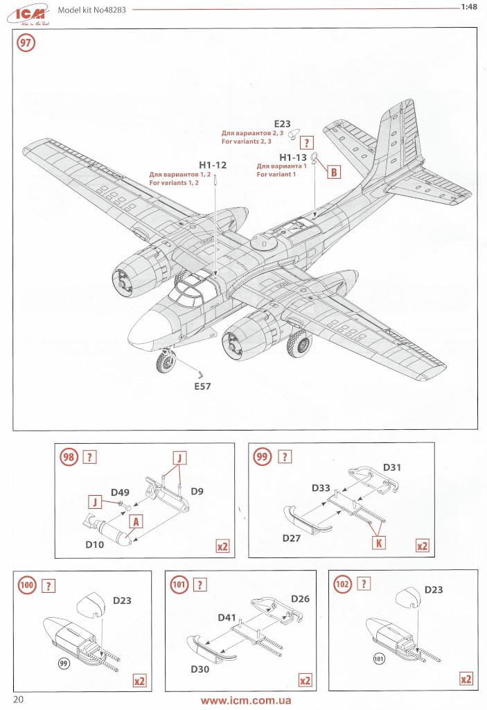 Anleitung20 Douglas A-26С-15 Invader ICM 1:48 (#48283)
