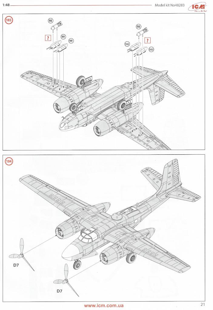 Anleitung21 Douglas A-26С-15 Invader ICM 1:48 (#48283)