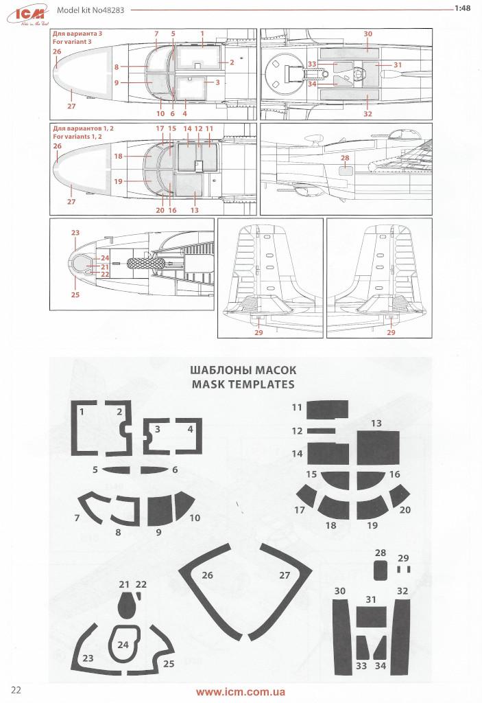 Anleitung22 Douglas A-26С-15 Invader ICM 1:48 (#48283)