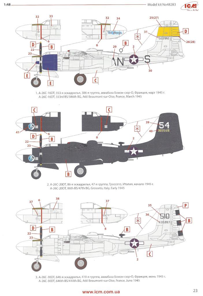 Anleitung23 Douglas A-26С-15 Invader ICM 1:48 (#48283)