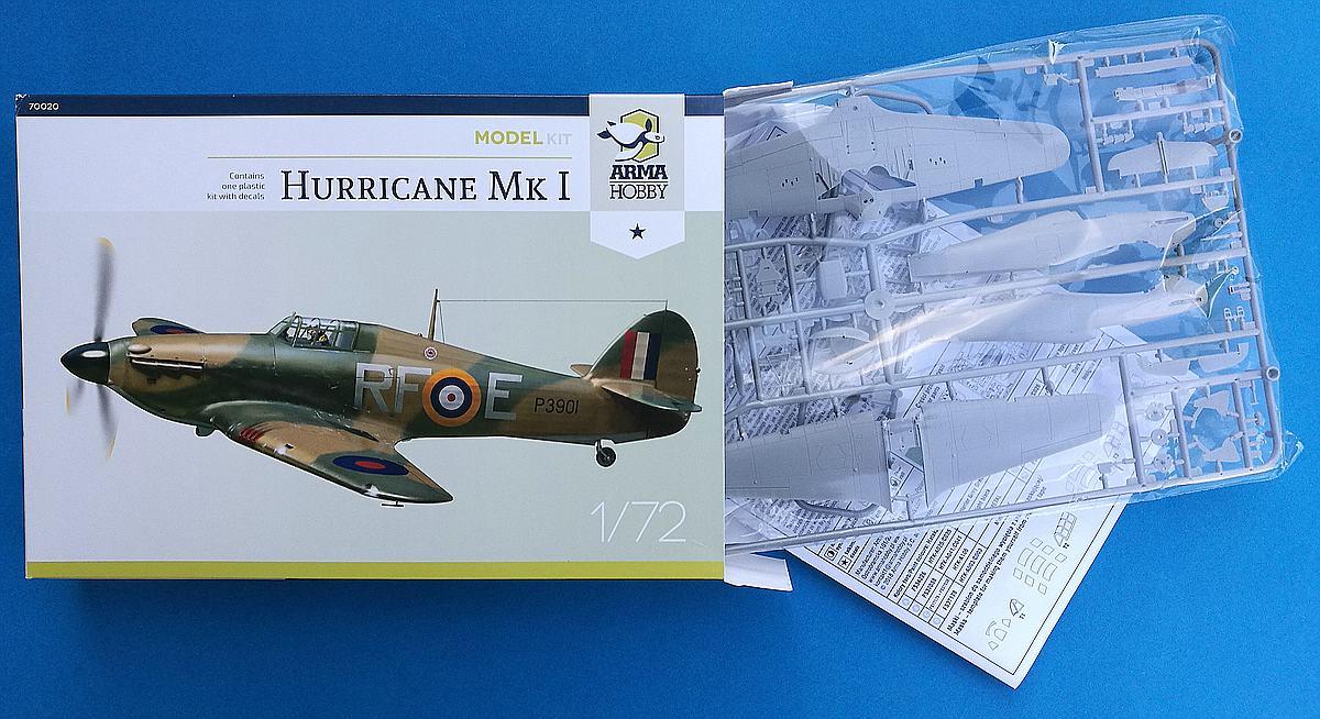 Arma-Hobby-70020-Hurricane-Mk.-I-10 Hawker Hurricane Mk. I in 1:72 von Arma Hobby #70020