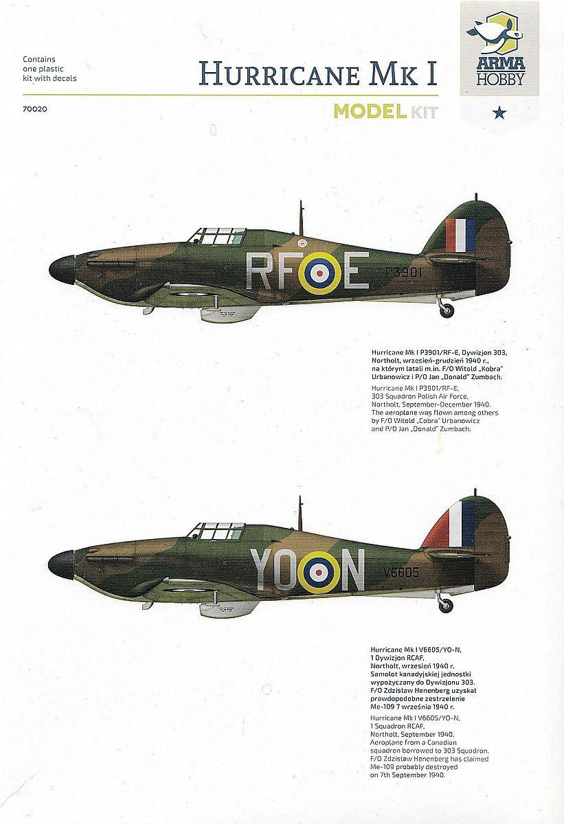 Arma-Hobby-70020-Hurricane-Mk.-I-39 Hawker Hurricane Mk. I in 1:72 von Arma Hobby #70020