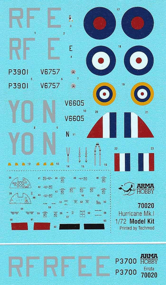 Arma-Hobby-70020-Hurricane-Mk.-I-4 Hawker Hurricane Mk. I in 1:72 von Arma Hobby #70020