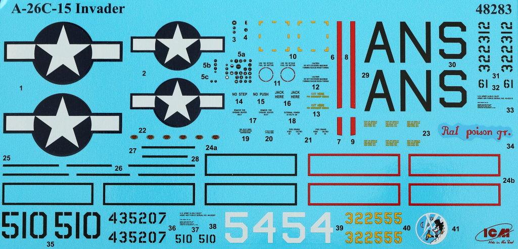 Decals-1 Douglas A-26С-15 Invader ICM 1:48 (#48283)