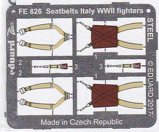 Eduard-FE-826-Seatbelts-Italy-WW-II-fighters-4 Seatbelts Italian Fighters WW II in 1:48 von Eduard #FE 826