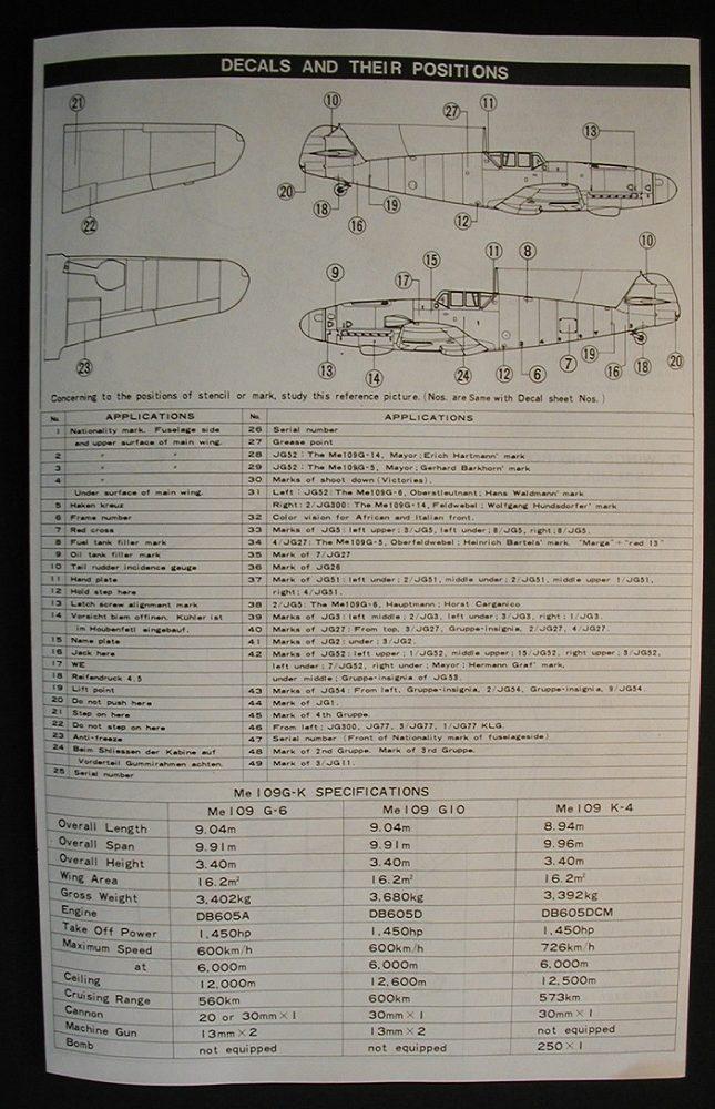 """Fujimi-P-1-Messerschmitt-Bf-109-G-K-10-rotated """"Es muss nicht immer Eduard sein"""" - heute: Bf 109 G-K von Fujimi"""