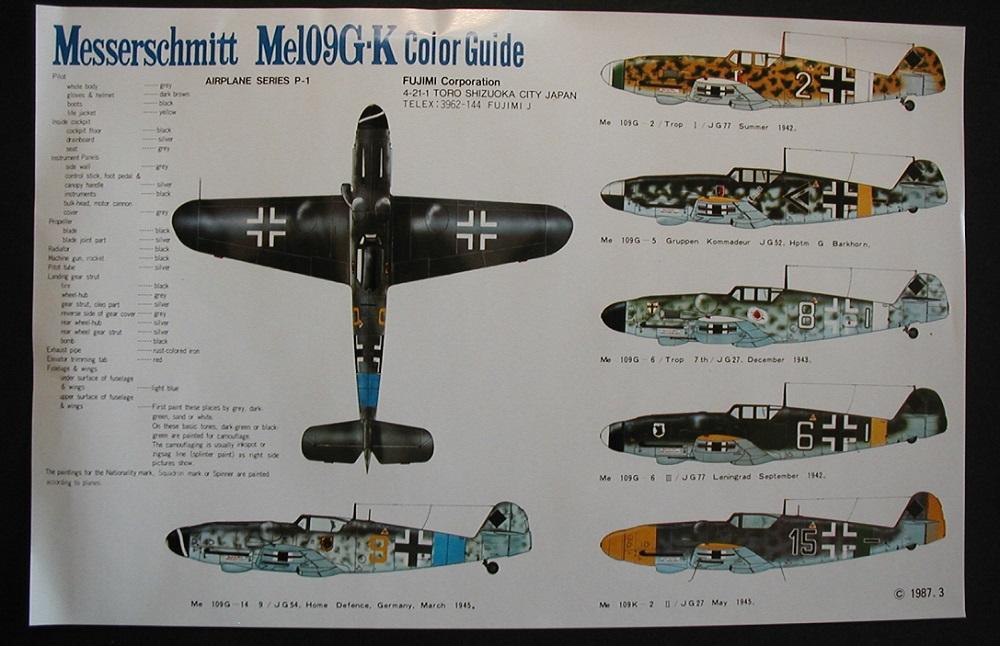 """Fujimi-P-1-Messerschmitt-Bf-109-G-K-12 """"Es muss nicht immer Eduard sein"""" - heute: Bf 109 G-K von Fujimi"""