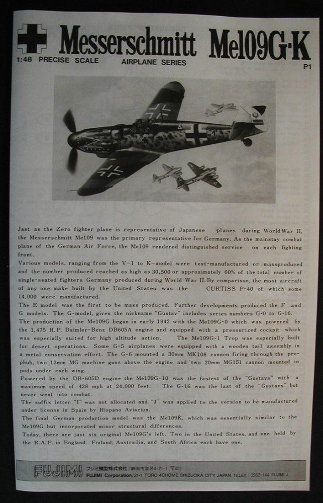 """Fujimi-P-1-Messerschmitt-Bf-109-G-K-4-rotated """"Es muss nicht immer Eduard sein"""" - heute: Bf 109 G-K von Fujimi"""