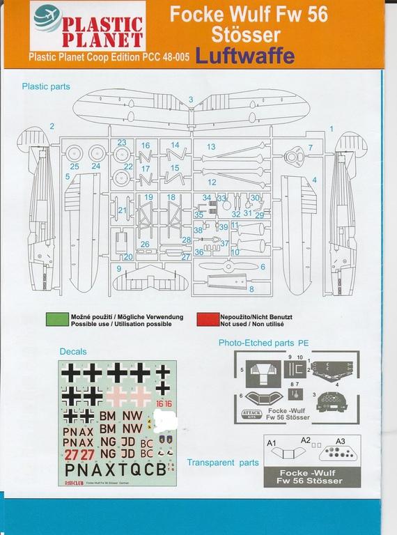 Plastic-Planet-48-005-FW-56-Stößer-21 Focke Wulf FW 56 Stößer in 1:48 PlasticPlanet #48005
