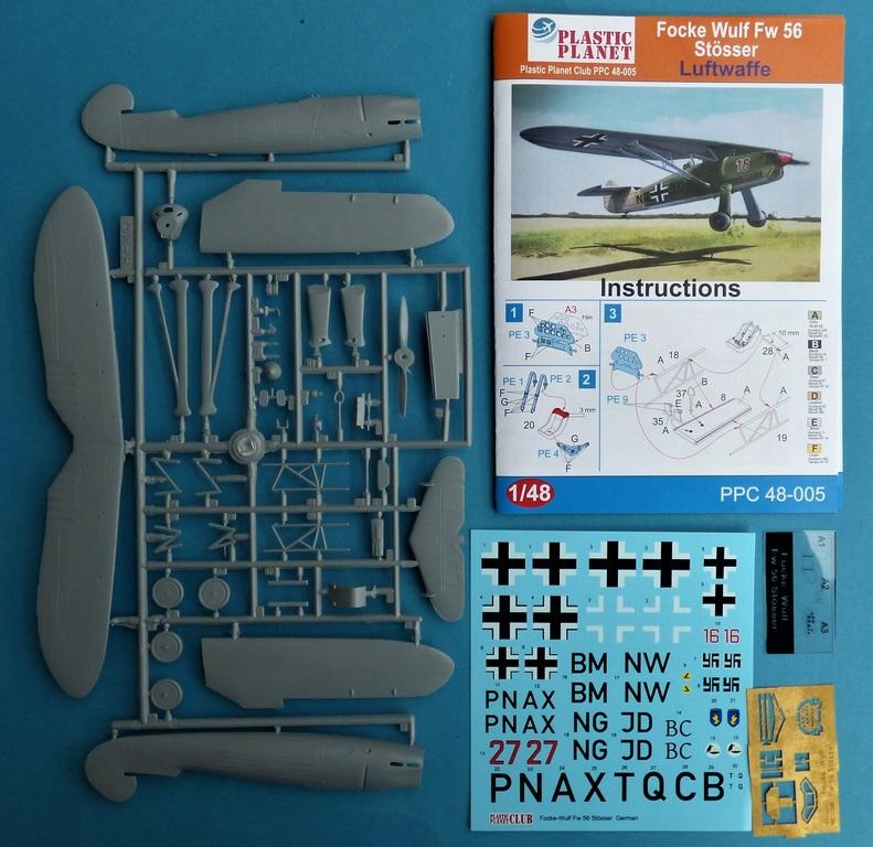 Plastic-Planet-48-005-FW-56-Stößer-3 Focke Wulf FW 56 Stößer in 1:48 PlasticPlanet #48005