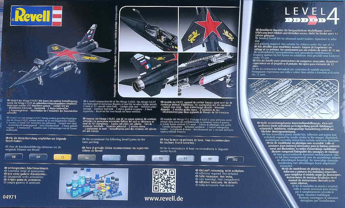 REvell-04971-Mirage-F1C-CT-2 Mirage F.1C / CT in 1:72 von Revell #04971
