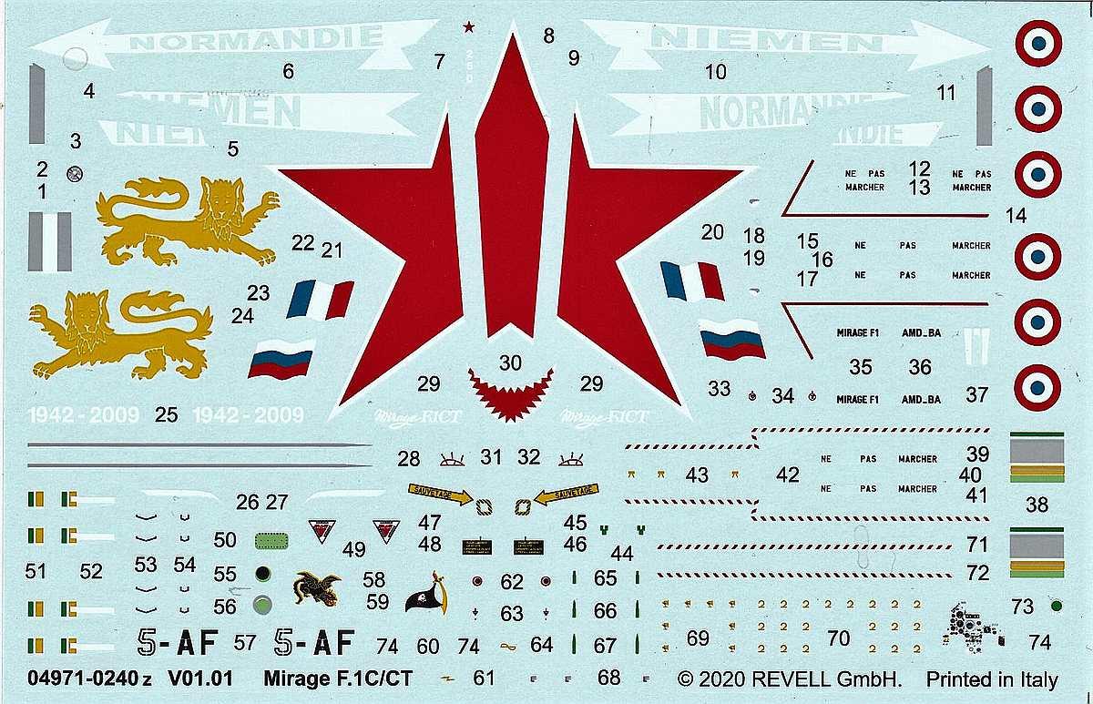 REvell-04971-Mirage-F1C-CT-25 Mirage F.1C / CT in 1:72 von Revell #04971