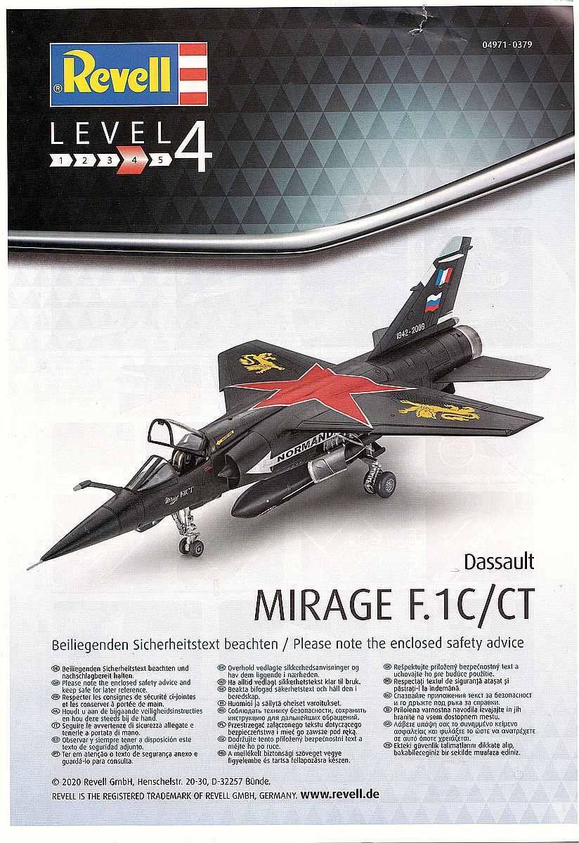 Revell-04971-Mirage-F1C-Bauanleitung-1 Mirage F.1C / CT in 1:72 von Revell #04971