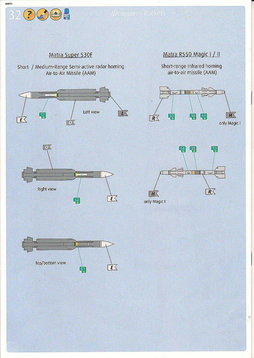 Revell-04971-Mirage-F1C-Bauanleitung-13 Mirage F.1C / CT in 1:72 von Revell #04971