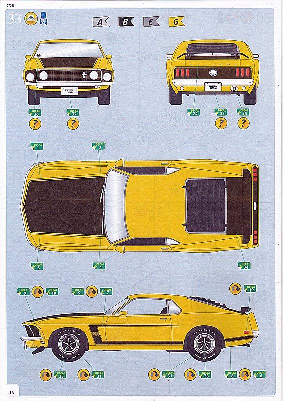 Revell-07025-69er-Ford-Mustang-Boss-302-16 69 Ford Mustang Boss in 1:25 von Revell #07025