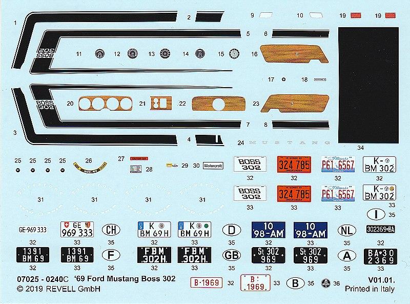 Revell-07025-69er-Ford-Mustang-Boss-302-17 69 Ford Mustang Boss in 1:25 von Revell #07025