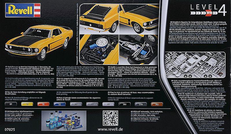 Revell-07025-69er-Ford-Mustang-Boss-302-2 69 Ford Mustang Boss in 1:25 von Revell #07025