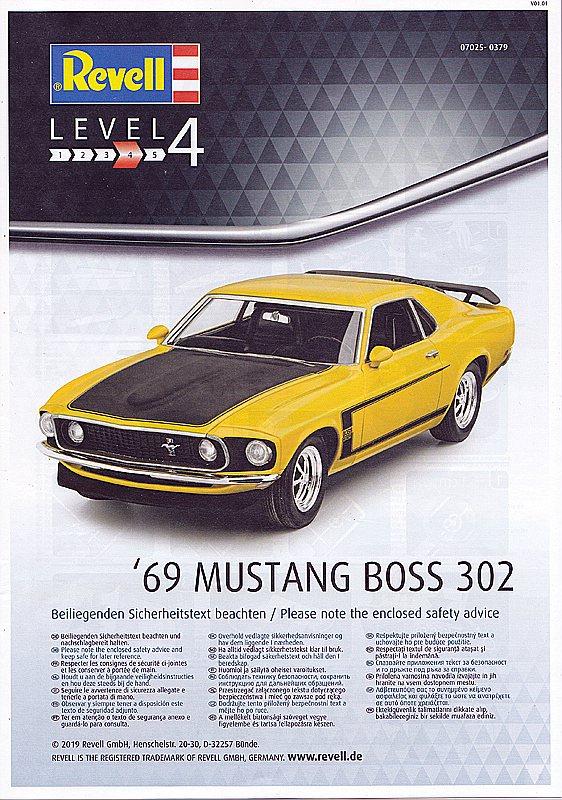 Revell-07025-69er-Ford-Mustang-Boss-302-5 69 Ford Mustang Boss in 1:25 von Revell #07025