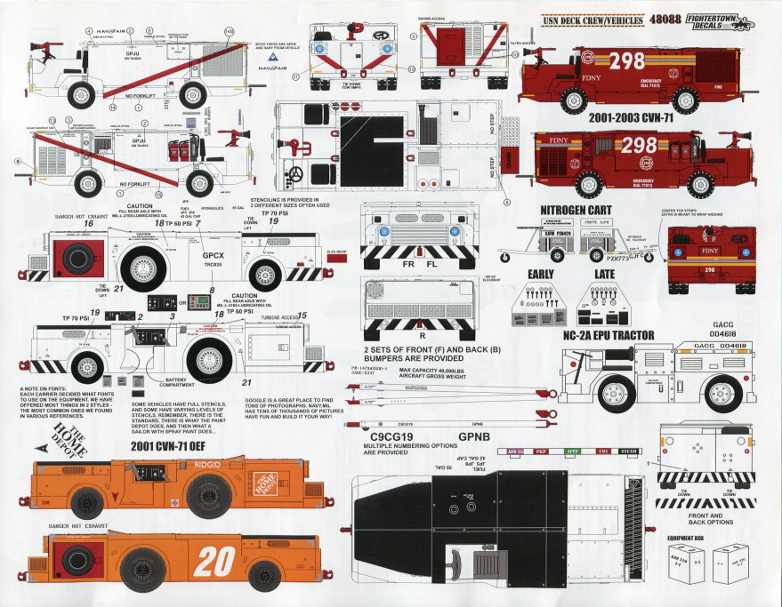 Review_Fightertown_CSN_Deck_03 Decalset USN Deck Crew / Vehicles - Fightertown Decals 1/48