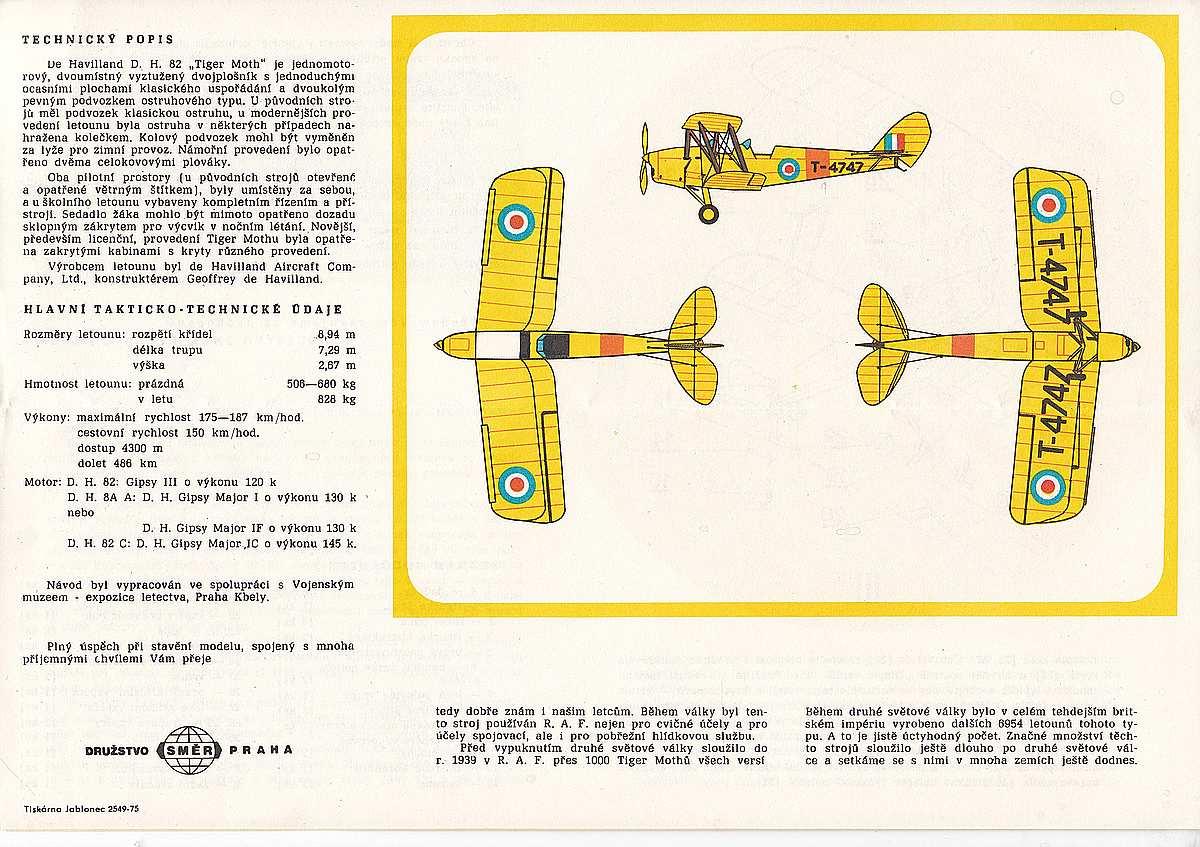 SMER-111-DH-82-Tiger-MOth-19 Kit-Archäologie: DH 82 Tiger Moth in 1:48 von Smer #111