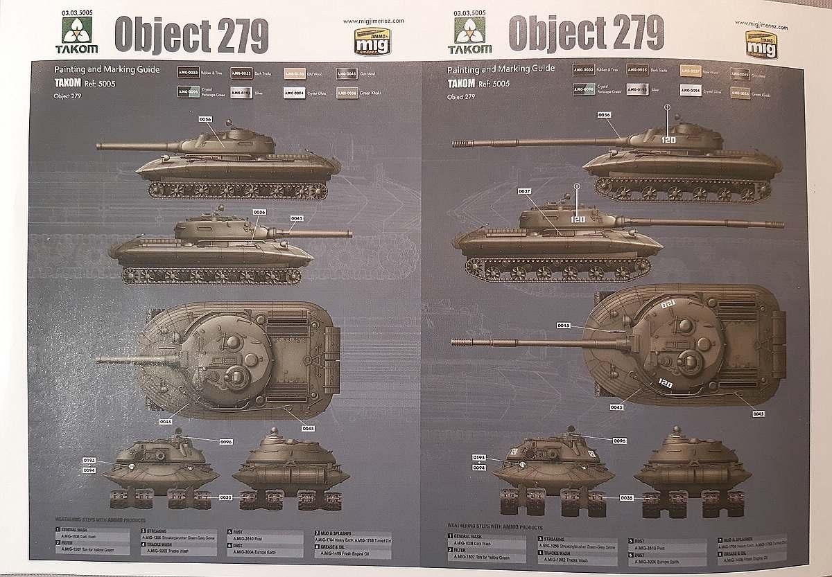 Takom-5005-Object-279-und-279M-3 Object 279 und 279M in 1:72 von Takom # 5005