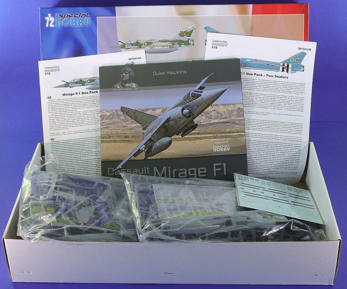 comp_Special-Hobby-Mirage-F1-Duo-Pack-Karton-inhalt-Übersicht Mirage F.1C Duo Pack in 1:72 von Special Hobby #SH 72414