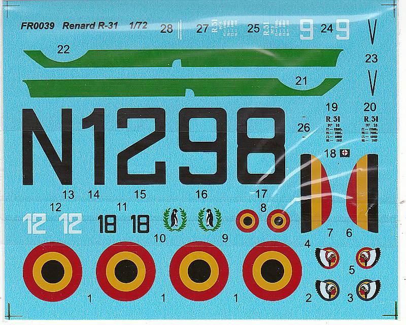 AZUR-FR-0039-Renard-R-31-6 Renard R. 31 in 1:72 von Azur #FR 0039