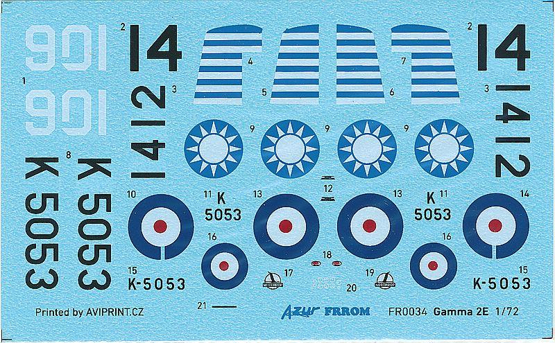 AZUR-Frrom-FR-0034-Gamma-2E-Bomber-17 Gamma 2E Bomber in 1:72 von AZUR / Frrom # FR 0034