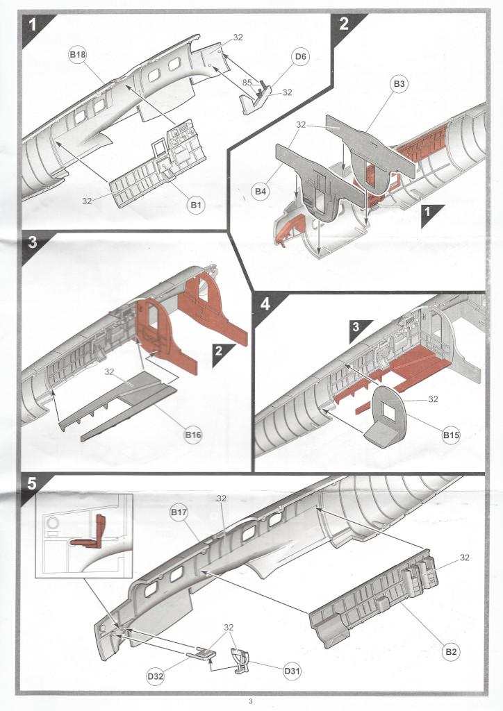 """Anleitung03-1 Heinkel He111 H-6 Motörhead """"Bomber"""" Special 1:72 Airfix (#A07007B)"""