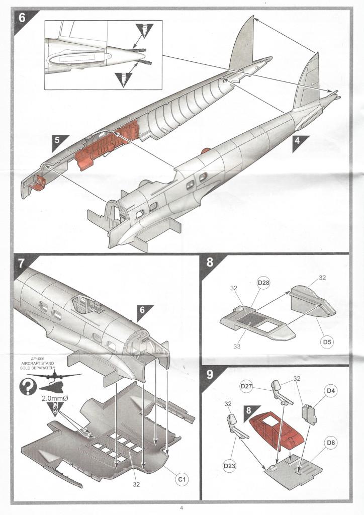 """Anleitung04-1 Heinkel He111 H-6 Motörhead """"Bomber"""" Special 1:72 Airfix (#A07007B)"""