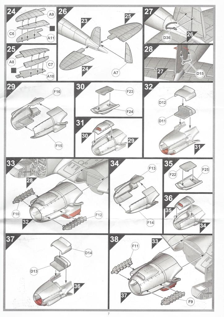 """Anleitung07-1 Heinkel He111 H-6 Motörhead """"Bomber"""" Special 1:72 Airfix (#A07007B)"""