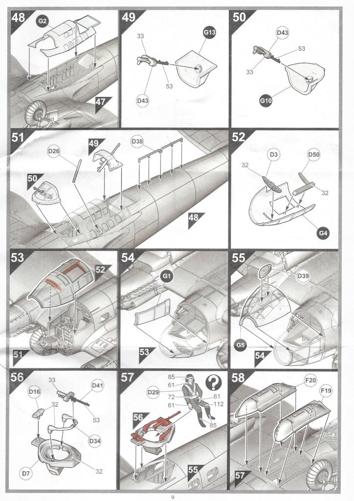 """Anleitung09-1 Heinkel He111 H-6 Motörhead """"Bomber"""" Special 1:72 Airfix (#A07007B)"""