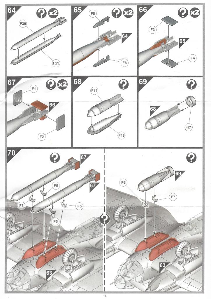 """Anleitung11-1 Heinkel He111 H-6 Motörhead """"Bomber"""" Special 1:72 Airfix (#A07007B)"""