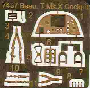 CMK-7437-Beaufighter-Cockpit-14 CMK Zurüstteile für die Beaufighter von Airfix in 1:72
