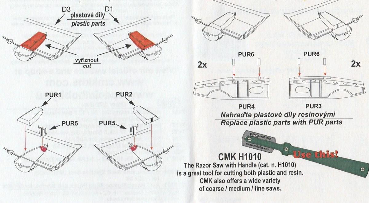 CMK-7438-Beaufighter-Undercarriage-8 CMK Zurüstteile für die Beaufighter von Airfix in 1:72