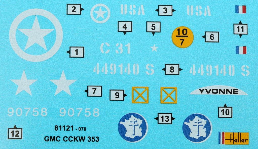 Decals GMC CCKW 353 Heller 1:35 (#81121)