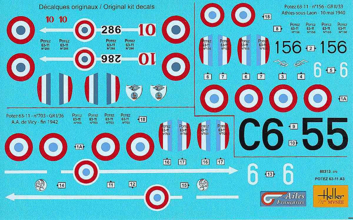 Heller-80313-Potez-63-11-23 Kit-Archäologie: Potez 63-11 in 1:72 von Heller # 80313