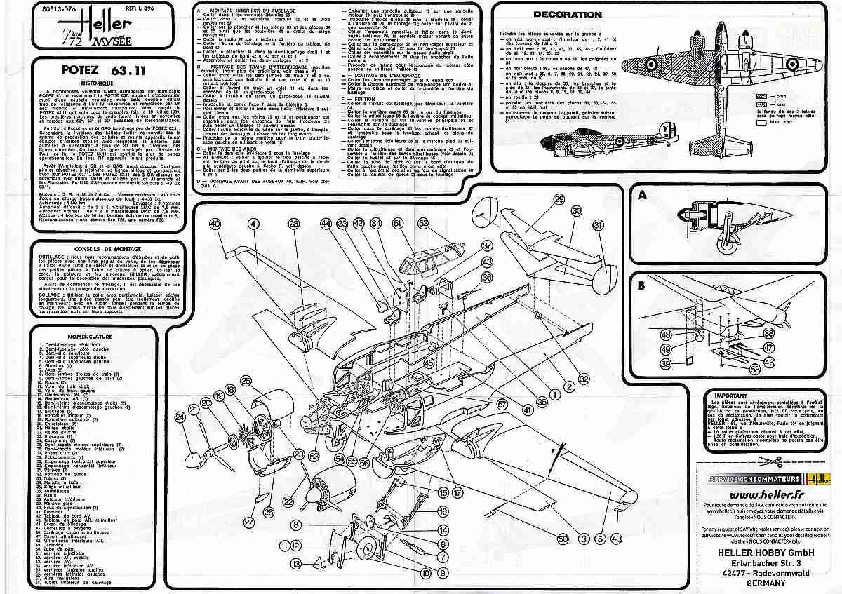 Heller-80313-Potez-63-11-31 Kit-Archäologie: Potez 63-11 in 1:72 von Heller # 80313