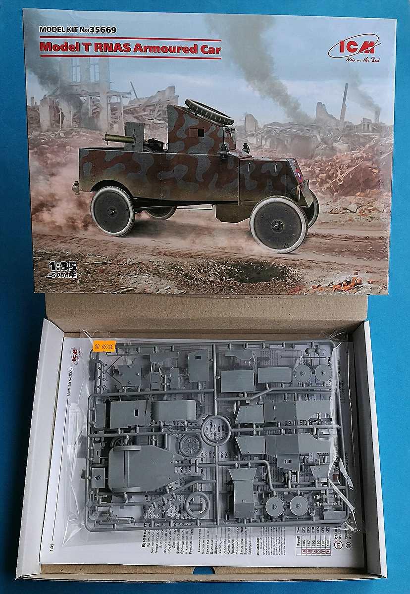 ICM-35669-Model-T-RNAS-Armoured-Car-1 Ford Model T RNAS Armoured Car in 1:35 von ICM # 35669